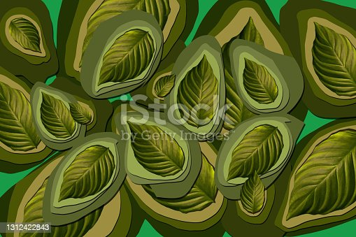 istock Green leaves realistic seamless 1312422843