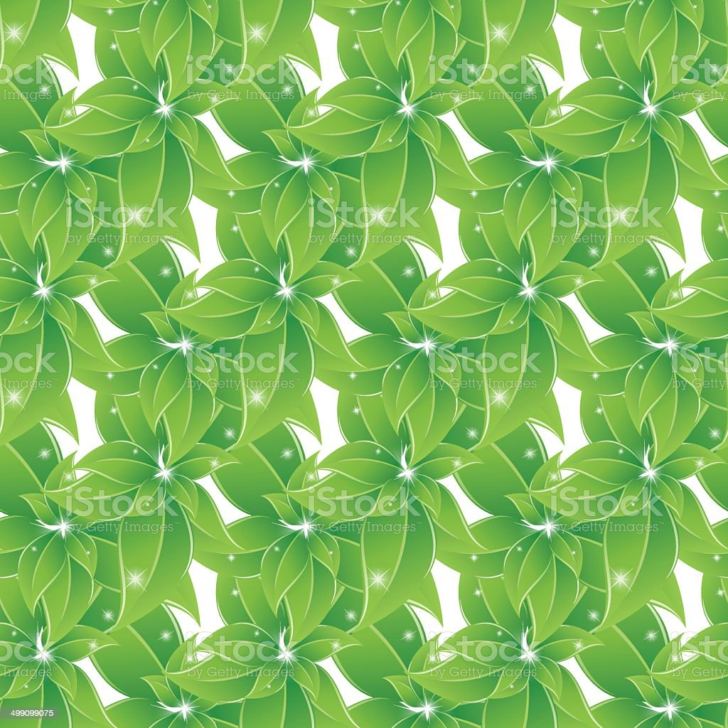 green leaves seamless background royalty-free stock vector art