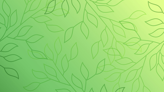Green leaves seamless pattern background