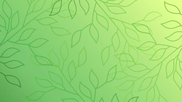 綠葉無縫的樣式背景 - 大自然 幅插畫檔、美工圖案、卡通及圖標