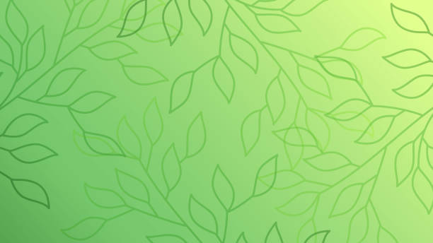 green leaves seamless pattern background - nature stock illustrations