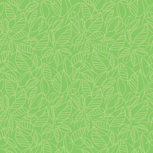 綠葉無縫圖案 - 大自然 幅插畫檔、美工圖案、卡通及圖標