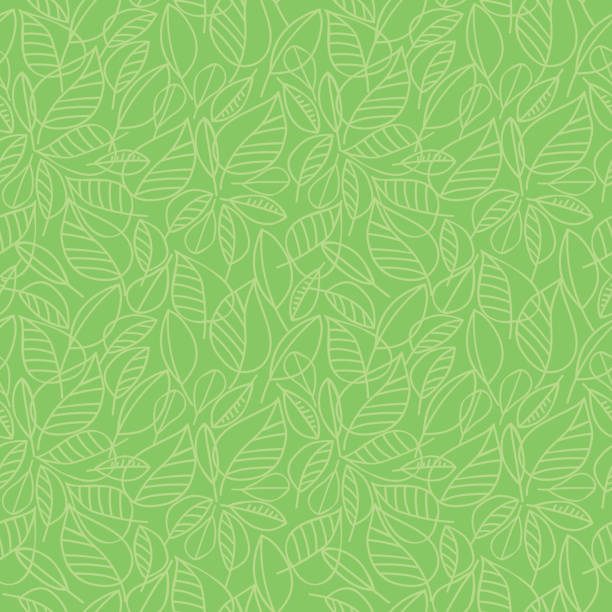 green leaves seamless pattern - nature stock illustrations