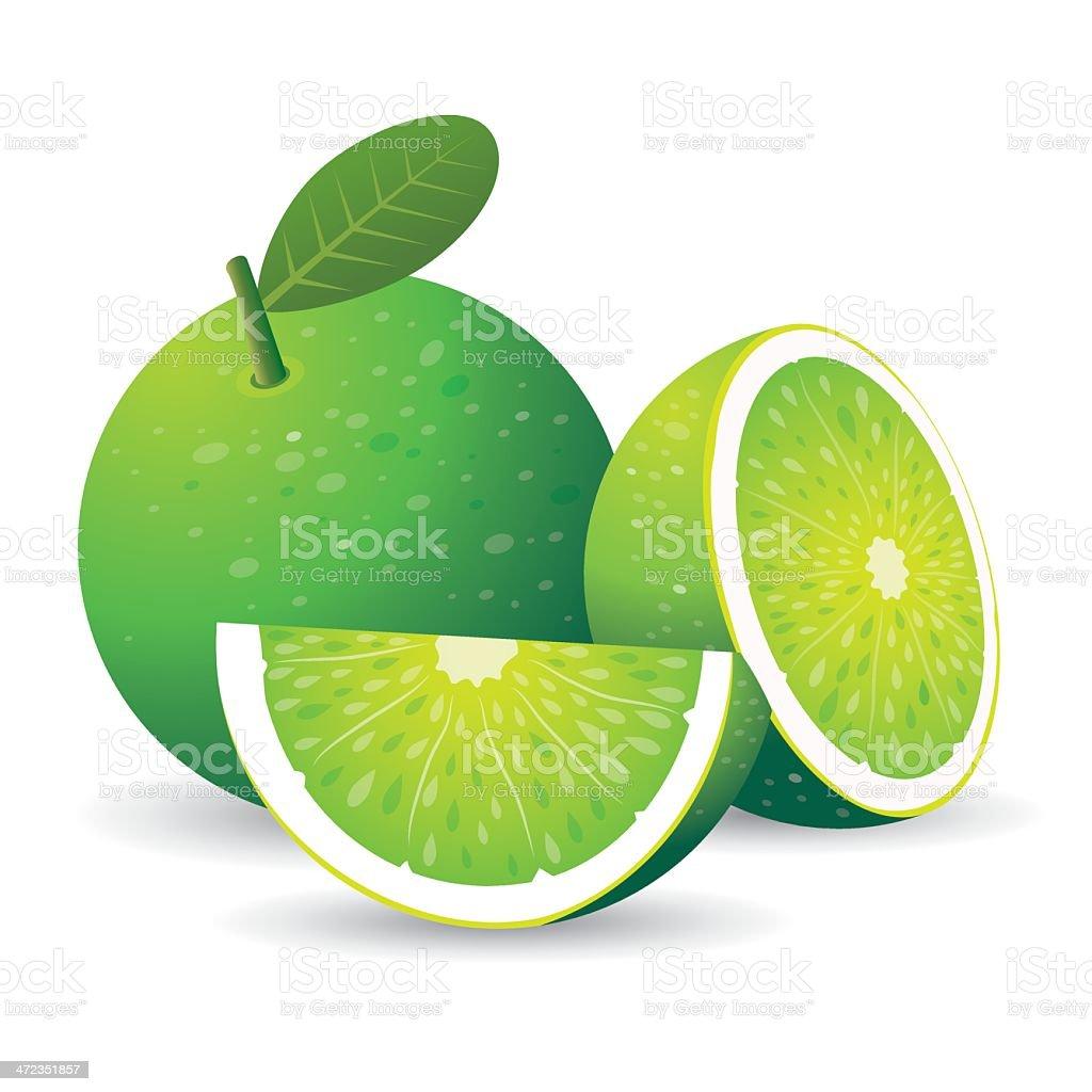 Green lemon royalty-free stock vector art