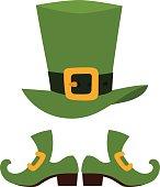 Green leprechaun hat vector illustration