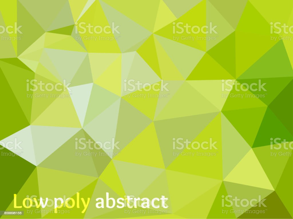 Green Light Polygonal Mosaic Background vector art illustration