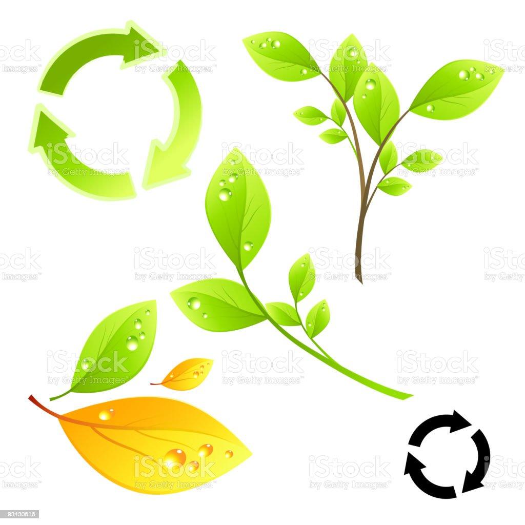 Green Living Elements royalty-free stock vector art