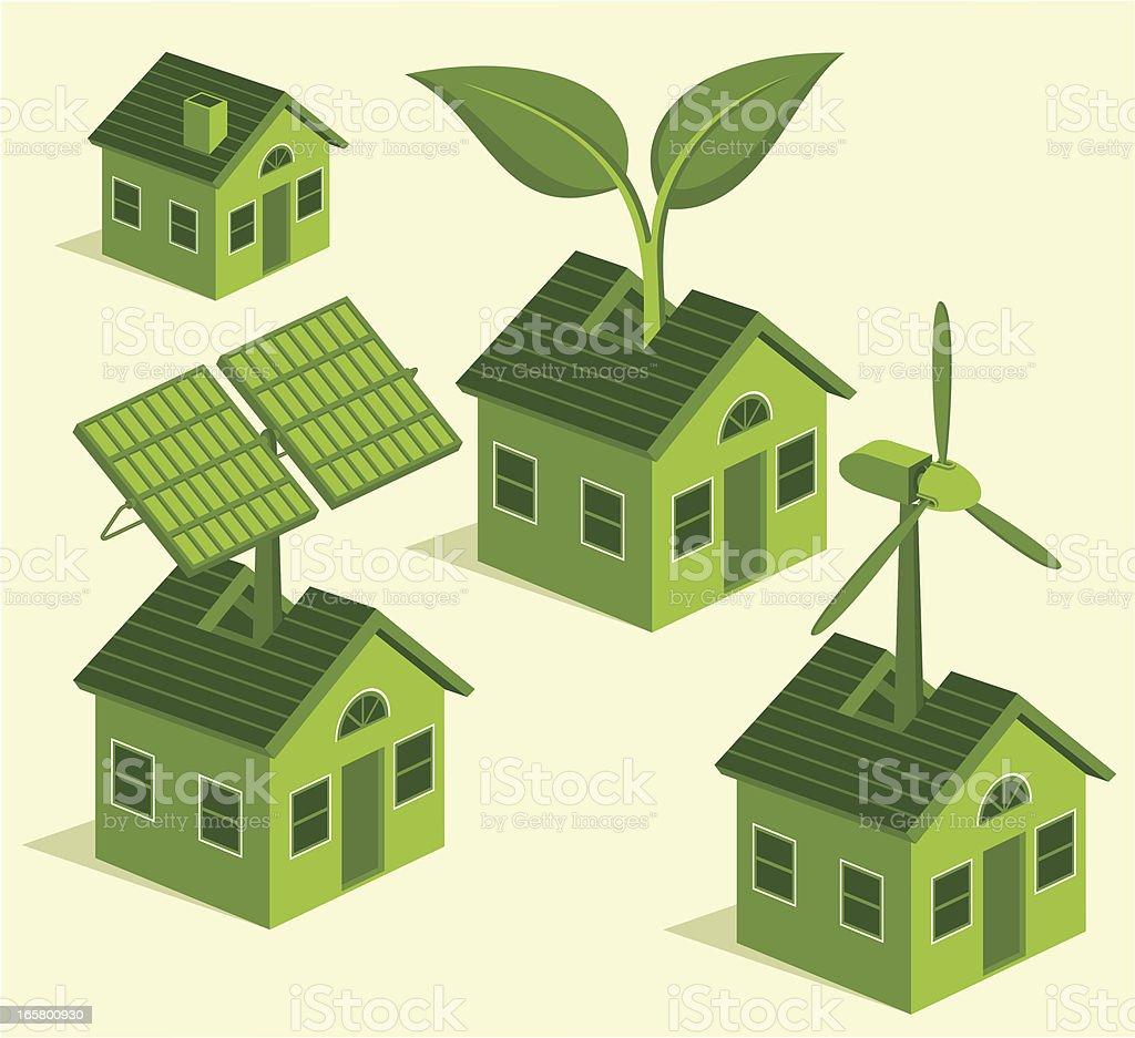 Green Living royalty-free stock vector art
