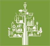 Green living concept. Zip contains AI, PDF and hi-res Jpeg.