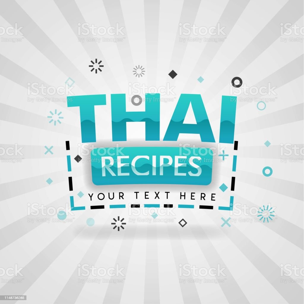 Green Logo For Thai Food Recipes For Food Cover App Booking