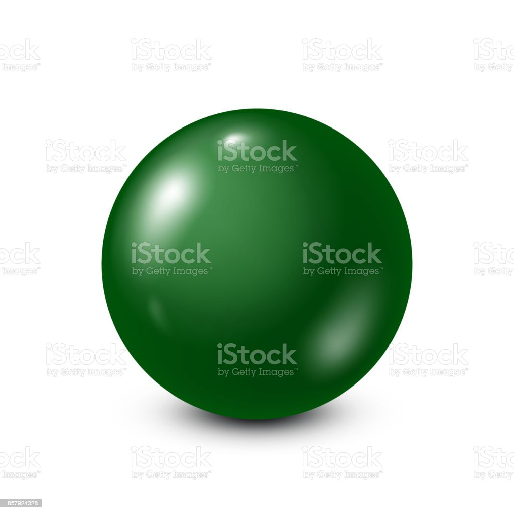 Green lottery, billiard,pool ball. Snooker. White background. Vector illustration vector art illustration