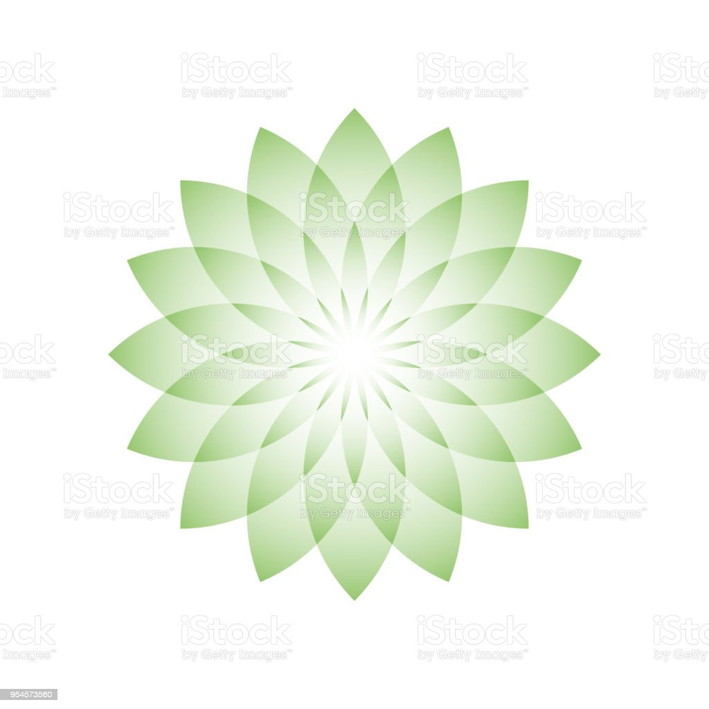 Green lotus flower symbol of yoga wellness beauty and spa vector green lotus flower symbol of yoga wellness beauty and spa vector illustration izmirmasajfo