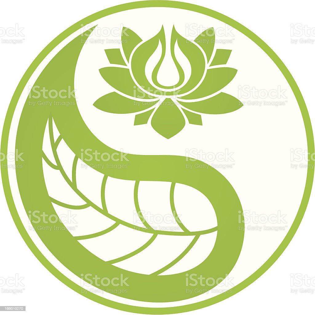 Green lotus royalty-free stock vector art