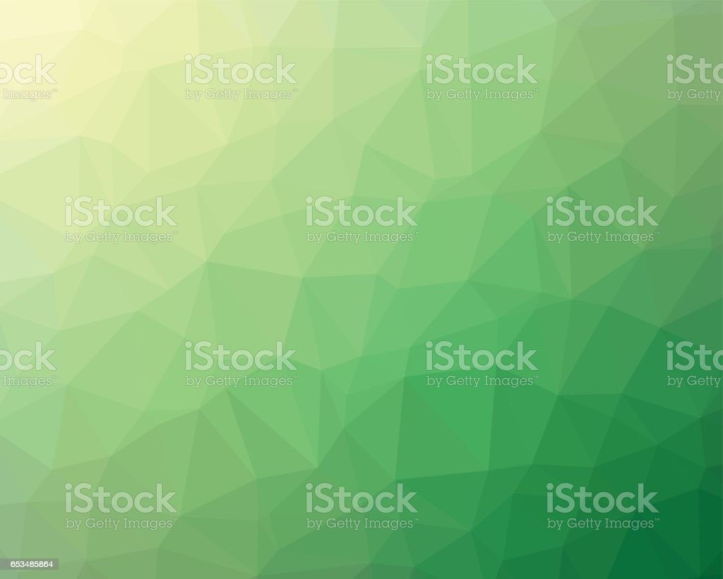 Green low poly background vector art illustration