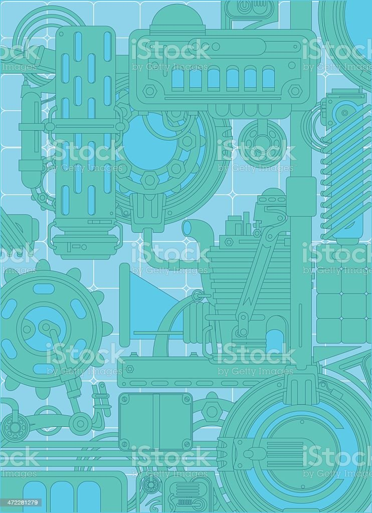 green machinery background royalty-free stock vector art