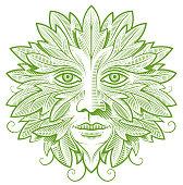 istock Green man line illustration 1273272794