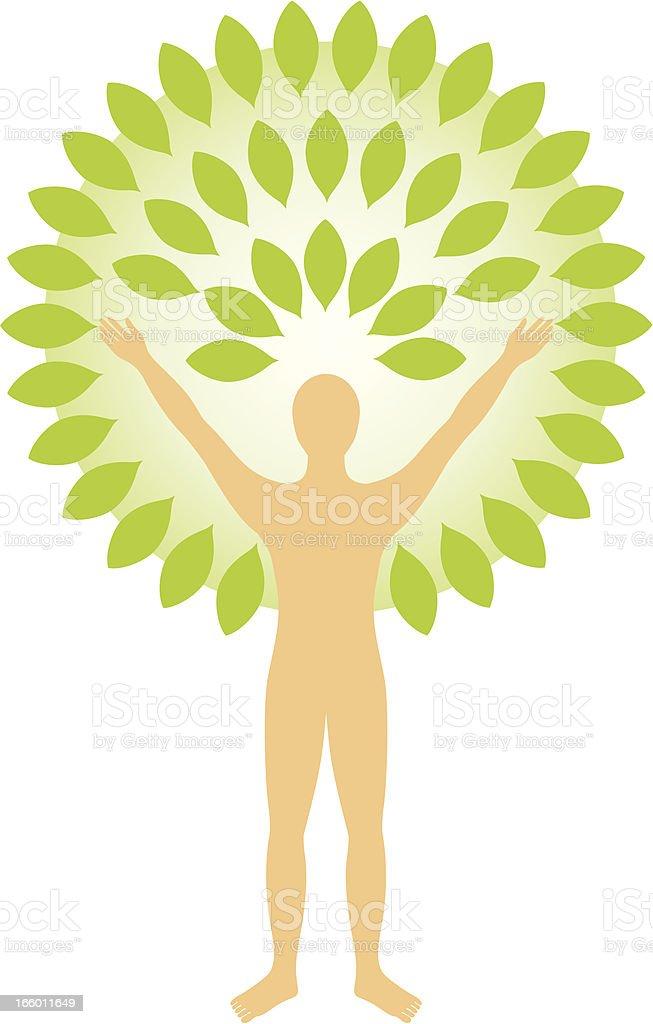 Green man royalty-free stock vector art