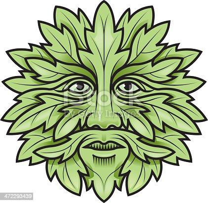 The symbol of a green man, intertwined with foliage, is one found throughout the world. He is often associated  with nature, rebirth or fertility.
