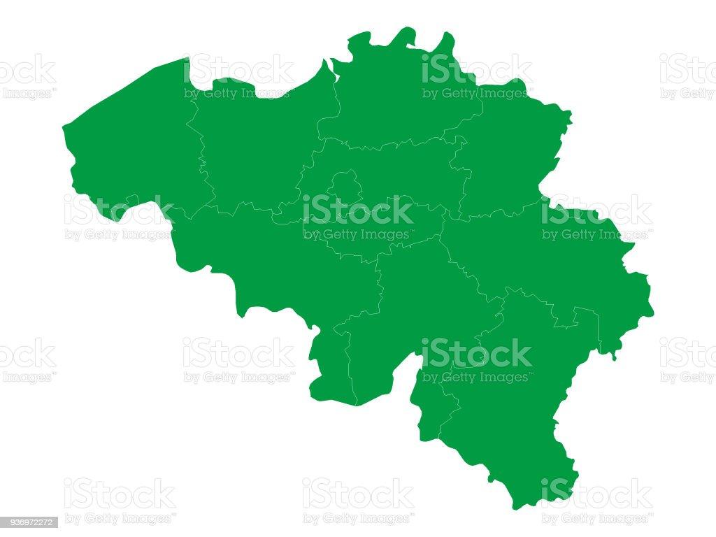 meer belgie kaart Groene Kaart Van België Stockvectorkunst en meer beelden van