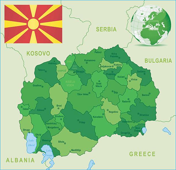 Grüne Karte Mazedonien.Mazedonien Stock Vektoren Und Grafiken Istock