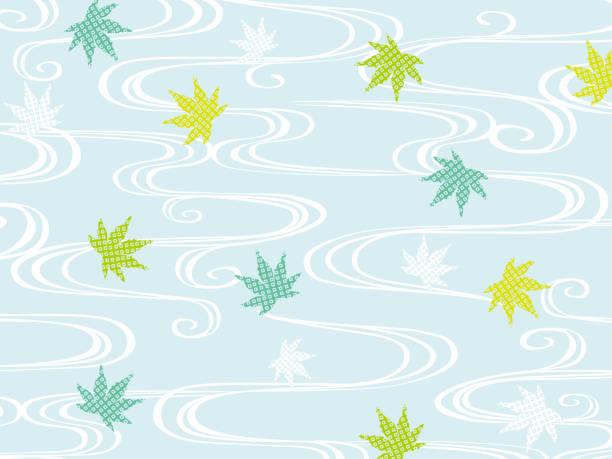 illustrazioni stock, clip art, cartoni animati e icone di tendenza di sfondo estivo dell'acero verde - forest bathing