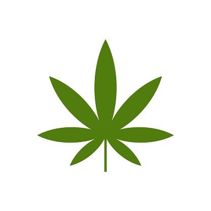 Green Marijuana Leaf Logo Template Illustration Design. Vector EPS 10.