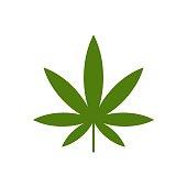 istock Green Marijuana Leaf Logo Template Illustration Design. Vector EPS 10. 1196625881
