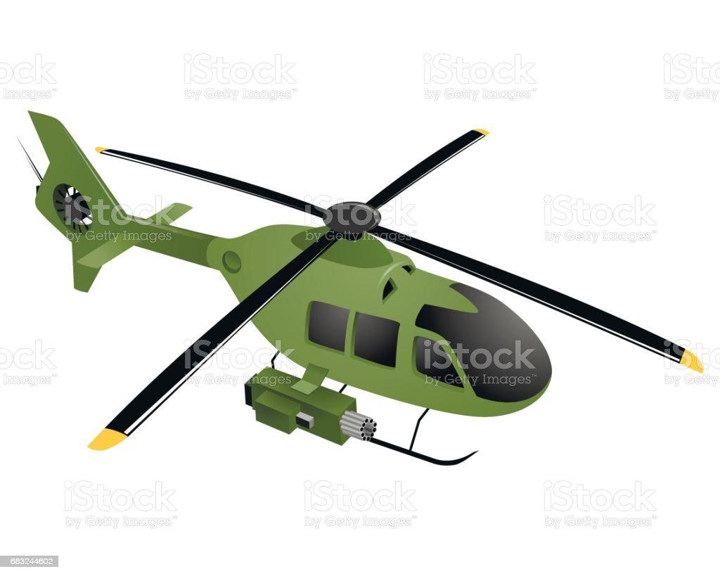 Green military helicopter green military helicopter - arte vetorial de stock e mais imagens de ataque militar royalty-free