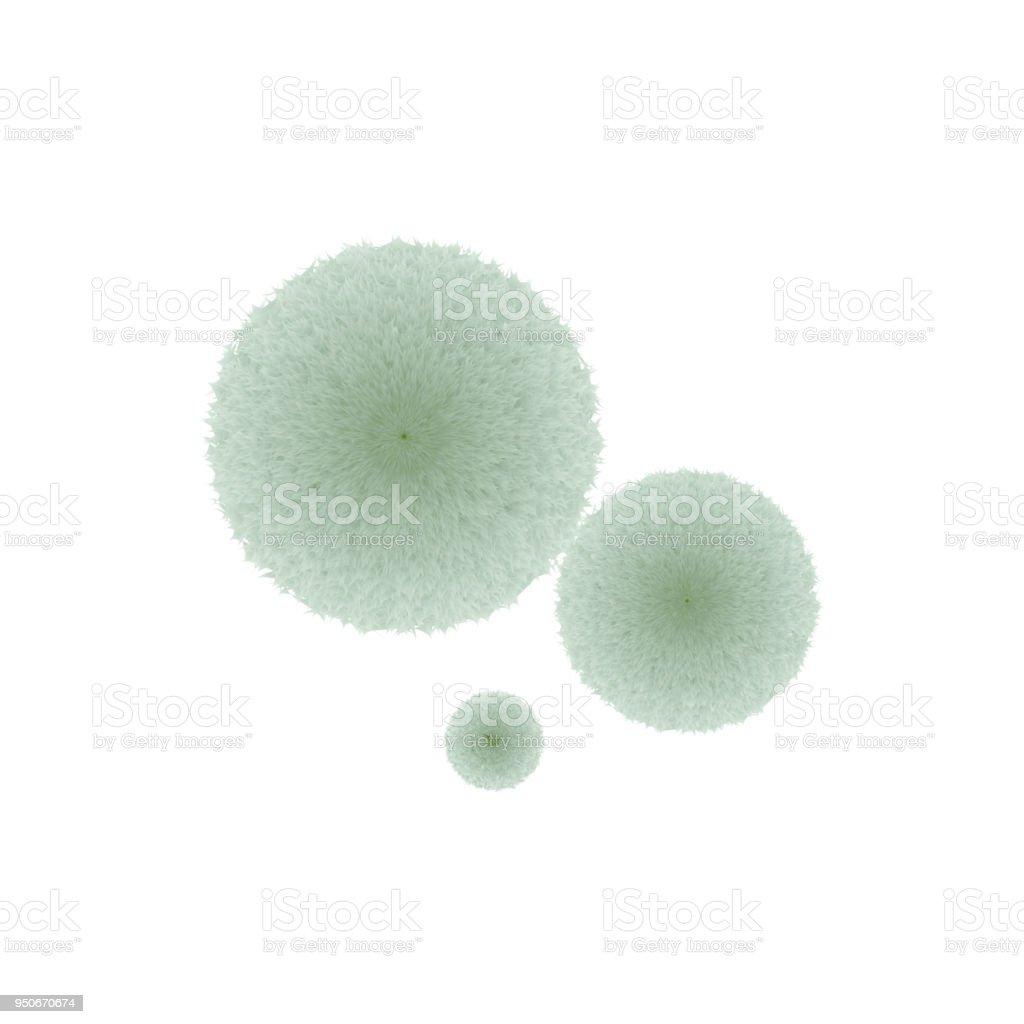 green mold fluffy thread vector art illustration