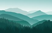 Background with mountains. Vector illustration. Eps 10.