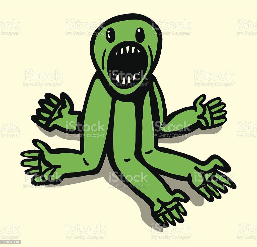 Green mutant royalty-free stock vector art
