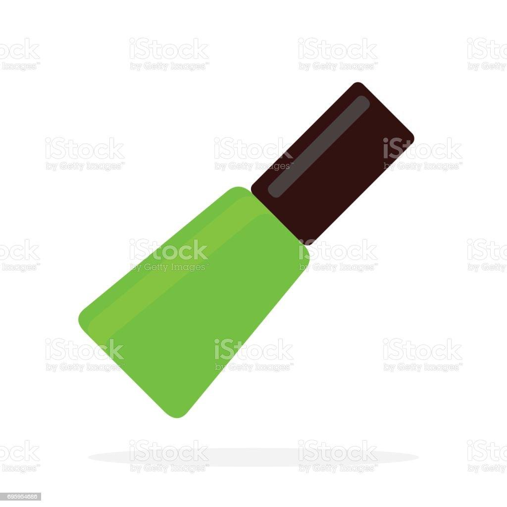 Diseño De Uñas Verde Vector Plano Material Objeto Aislado Sobre ...