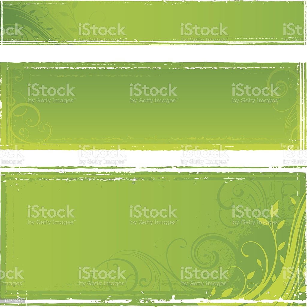Green nature frames royalty-free stock vector art