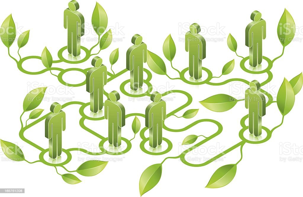 Green Network royalty-free stock vector art