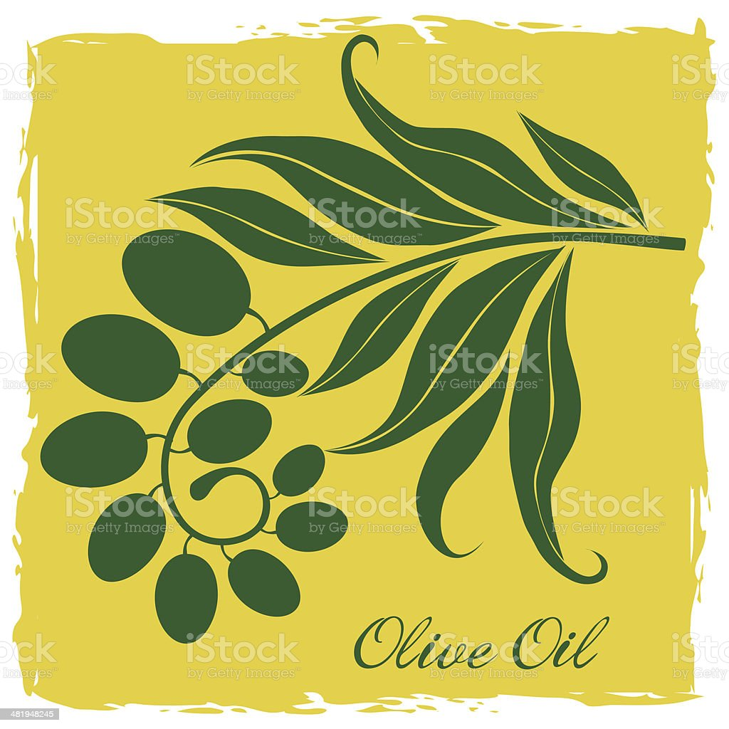Green Olive Branch Silhouette royalty-free stock vector art