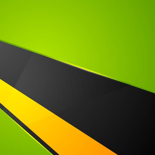 Green orange black abstract corporate background vector art illustration