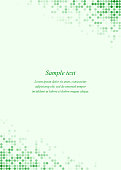 Green page corner design template