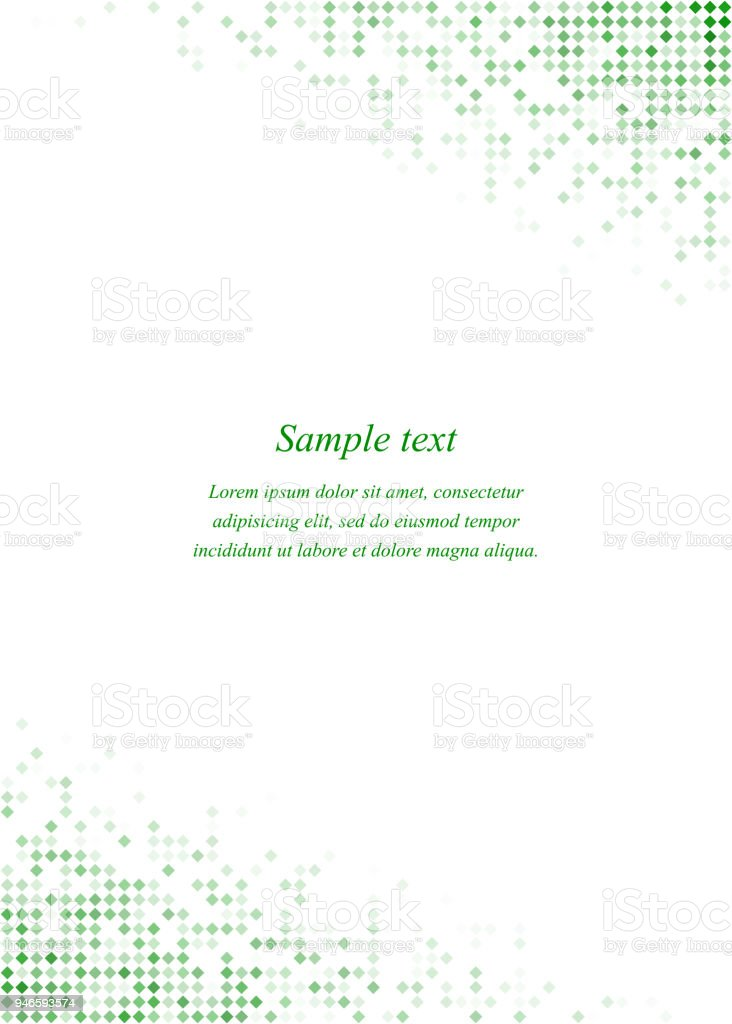 green page corner design template stock vector art more images of