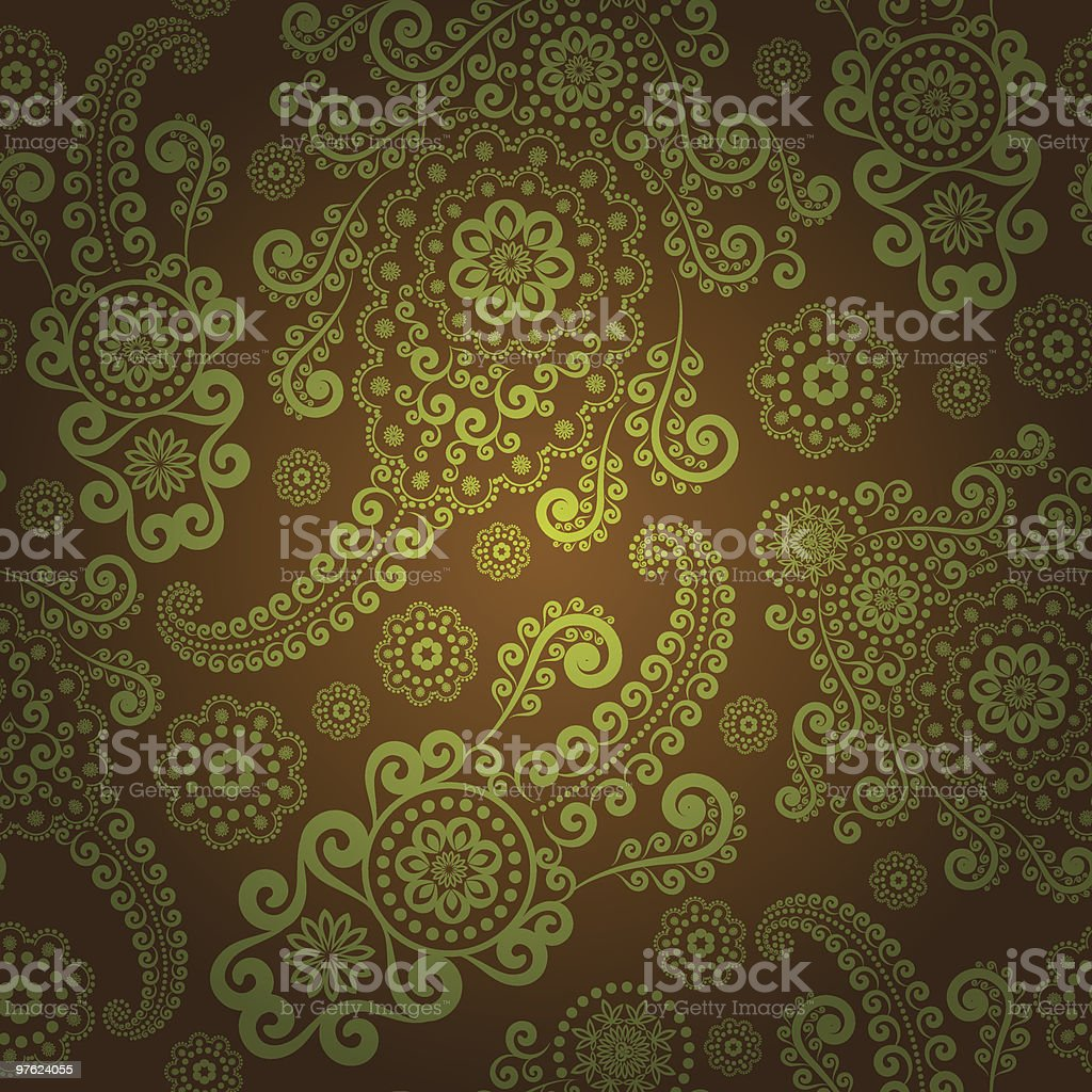 Green paisley seamless royalty-free green paisley seamless stock vector art & more images of abstract