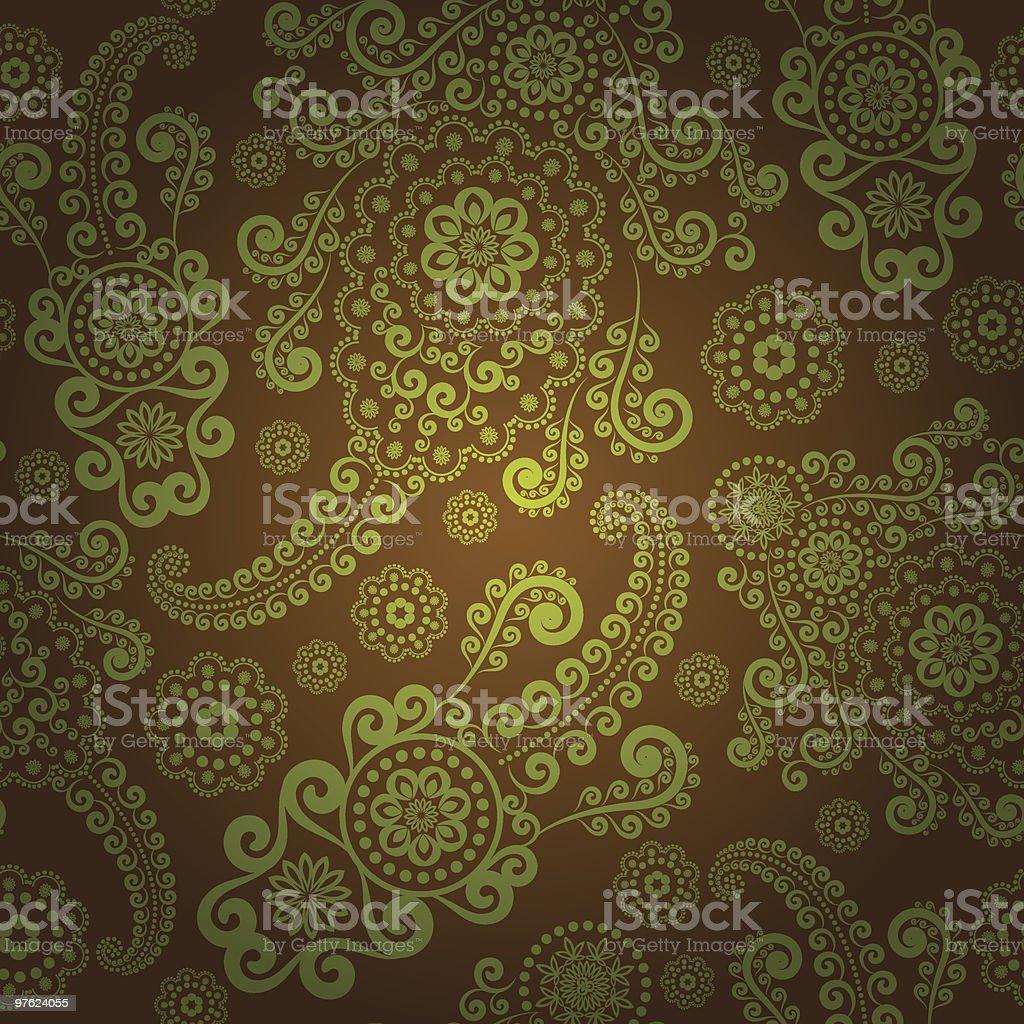 Green paisley seamless royaltyfri green paisley seamless-vektorgrafik och fler bilder på abstrakt