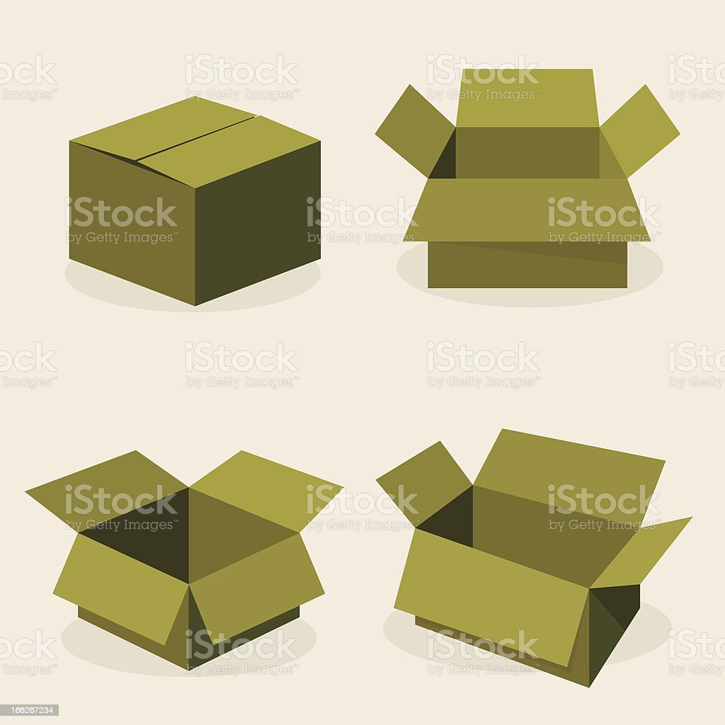green paper box royalty-free stock vector art