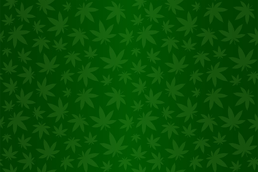 Green pattern with cannabis