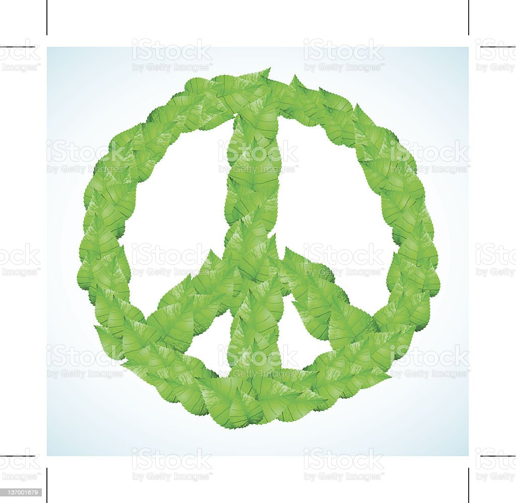 green peace sign vector art illustration