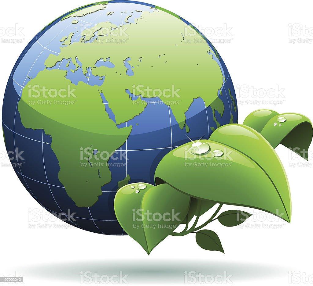 Green planet concept royalty-free stock vector art
