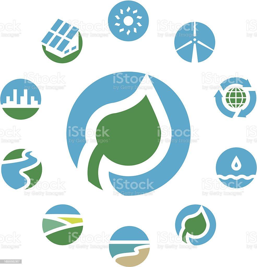 Green planet. vector art illustration