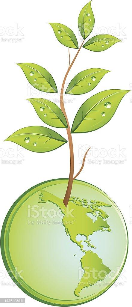 Grüne planet – Vektorgrafik
