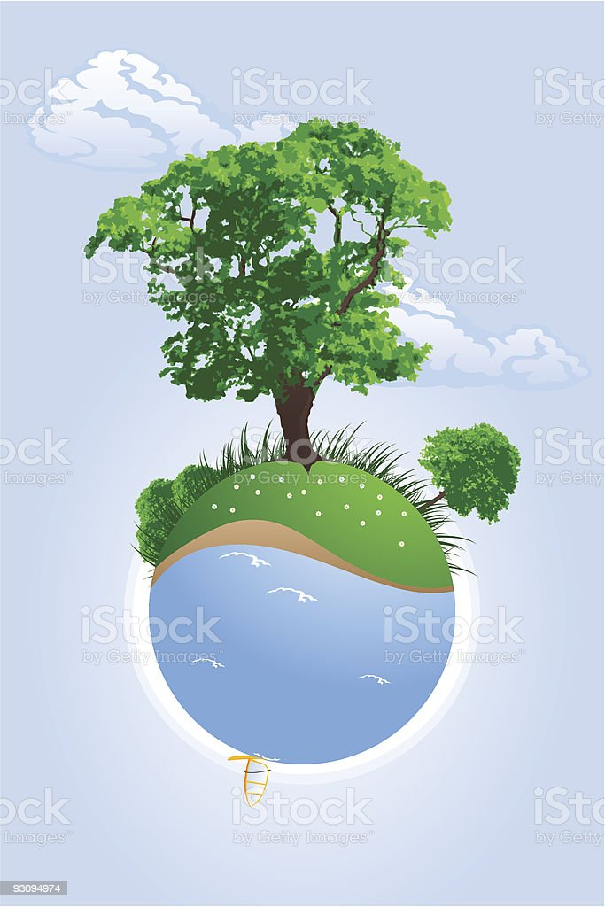 Green planet royalty-free green planet stock vector art & more images of art