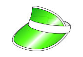 istock Green Plastic Transparent Sun Visor Cap Vector 1250416518
