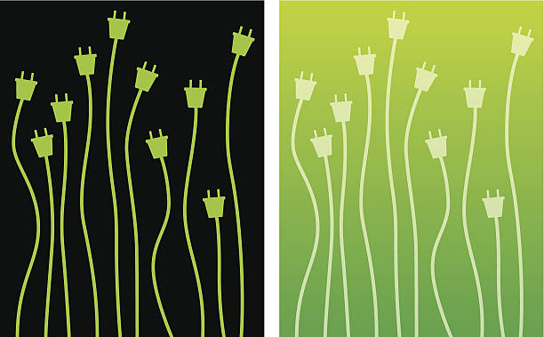 illustrations, cliparts, dessins animés et icônes de vert chevilles - rallonge électrique