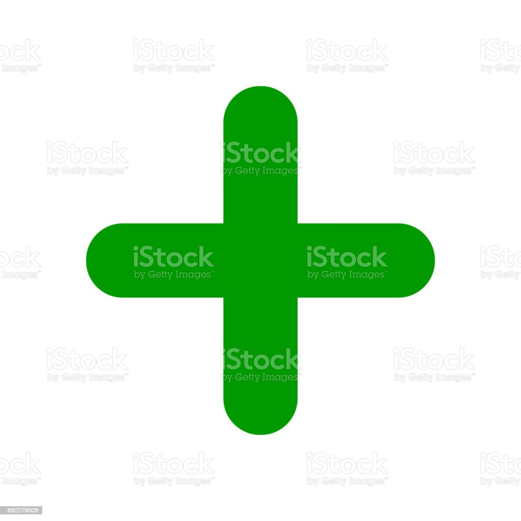 Green Plus Sign Positive Symbol Stock Vector Art More Images Of